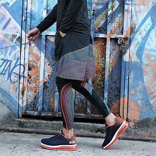 de Basses Sport Air Sneakers Bleu Baskets Sports Baskets Homme Running Course Chaussure Orange de Femme Gym Fitness OYw6xI