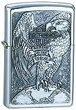 Zippo Harley-Davidson Full Faced Eagle Emblem Pocket Lighter
