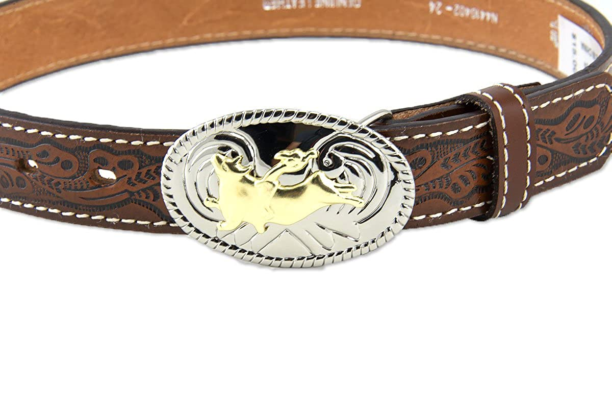 Nocona Boys Floral Leather Belt