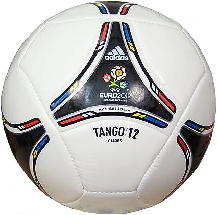 Adidas Euro 2012 Tango Glider - Balón de fútbol blanco, negro ...