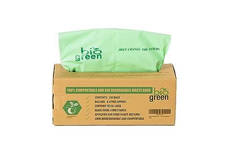 Biogreen Bolsas de Basura para Cocina para 6 litros ...