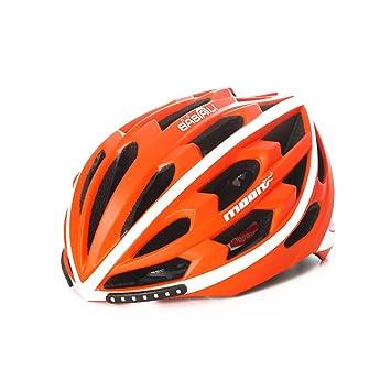 Goney Casco de Bicicleta Inteligente de Bicicleta de montaña Casco con luz de Seguridad de señal