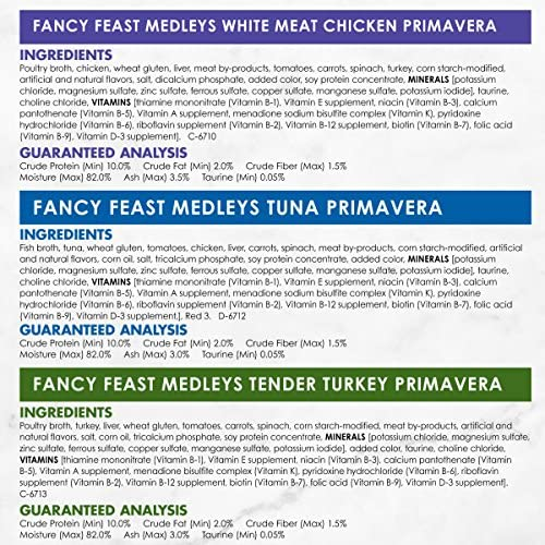 Purina Fancy Feast Gravy Wet Cat Food Variety Pack, Medleys Primavera Collection - (2 Packs of 12) 3 oz. Cans 12