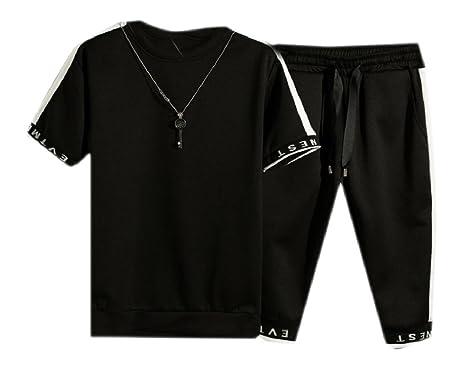 7cd3c4828b VITryst-Men Plus Size 2-Piece Half Pants Basic Active Sport ...