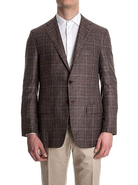 Kiton Blazer Uomo 6G1315 Cashmere Marrone  Amazon.it  Abbigliamento 2e447b163a0