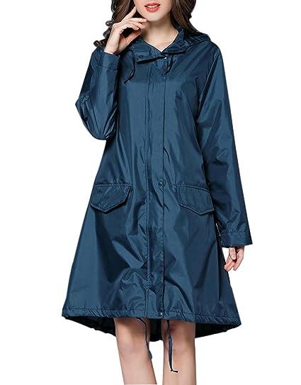 Veste de Pluie Femme Manteau Imperméable Capuche léger Coupe