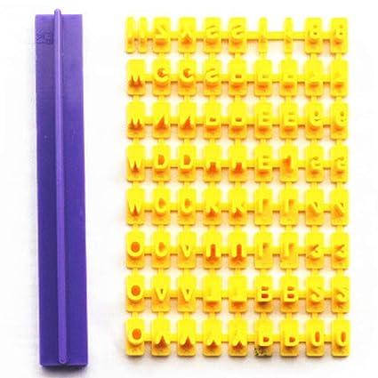 LEACK Molde de plástico de Letras del Alfabeto para Tartas, para Sellos de Prensa,