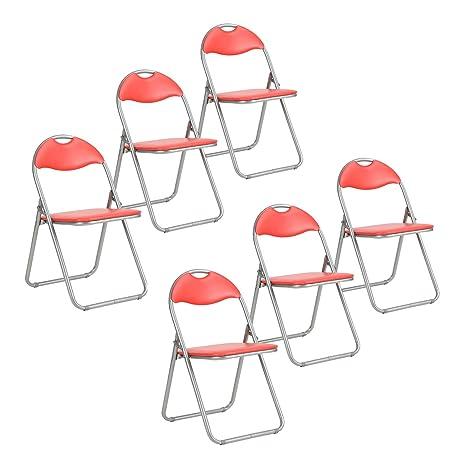 Sep Home - Juego de 6 sillas Plegables Acolchadas de PVC y ...