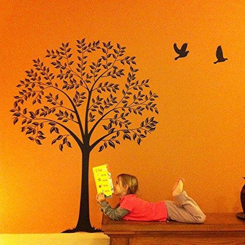 Linden Tree Dark Brown - Beautiful Tree Wall Decals for Kids Rooms Teen Girls Boys Wallpaper Murals Sticker Wall Stickers Nursery Decor Nursery Decals 57 in high PopDecals