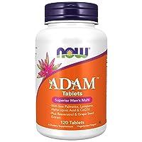NOW Supplements, ADAM Men's Multivitamin with Saw Palmetto, Lycopene, Alpha Lipoic...