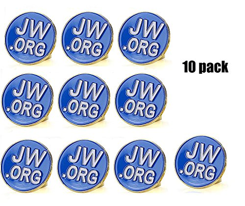 "Jehovah Witness - 3/4"" Round Blue Lapel Pin - JW.org Neck..."