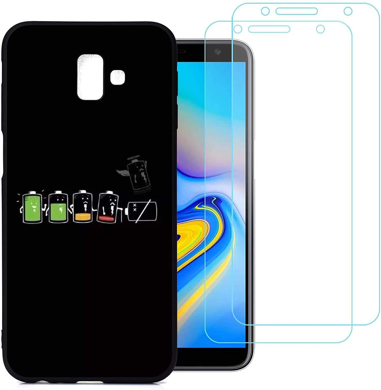 jrester Funda Samsung Galaxy J6 Plus,Batería Flexible Suave Silicona Smartphone Cascara Protectora para Samsung Galaxy J6 Plus (6,0