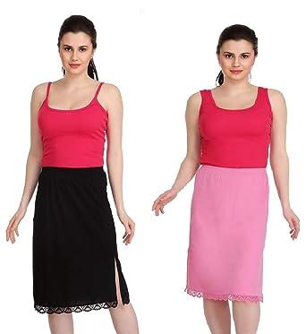 7eb93cd9db41 Splash Skirt Slip, Half Slip, White, Black, Skin Colors Set of 2PC ...