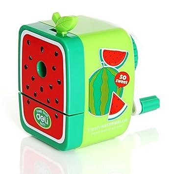 685aa306b5 Georgie - fruitage cancelleria scuola bambini bambini temperamatite manuale  con manovella temperamatite da scrivania per ufficio scuola Green  Watermelon: ...
