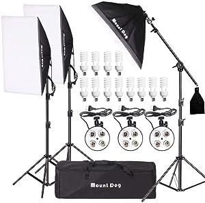 MOUNTDOG 2400W Softbox Photography Lighting Kit 20