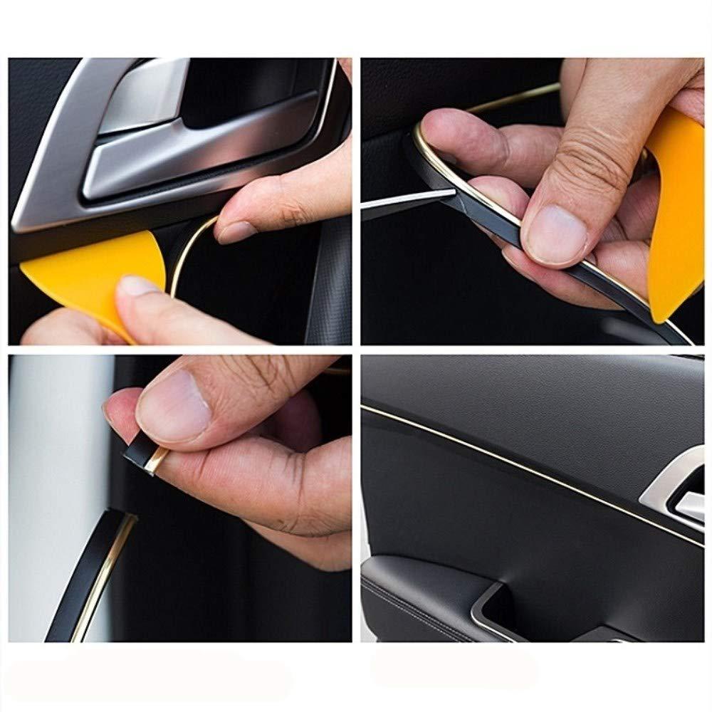 FuTaiKang Tira Coche Flexible Interior Moldura Decorativa Trim Line Car Styling Decoraci/ón Accesorios 5m Rojo