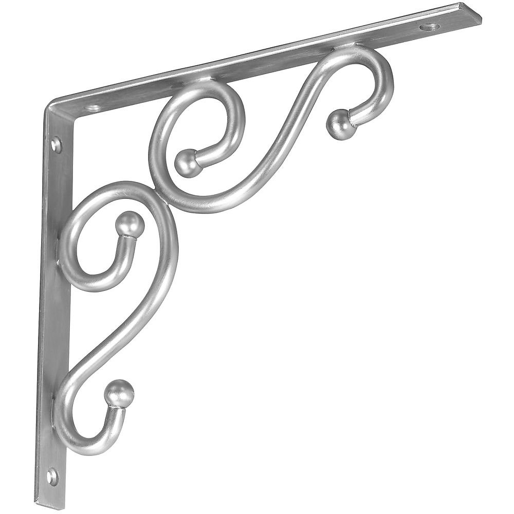 Stanley Hardware S250-591 773 Ornamental Shelf Brackets in Nickel , 7'' x 8''