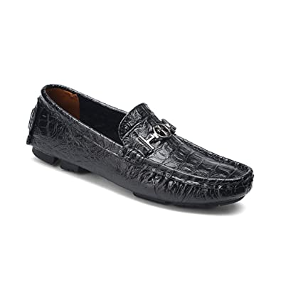 33981046754 NXY Men s Slip-On Loafer Shoes Comfort Driving Shoes Leather Casual Shoe  Black Size 8