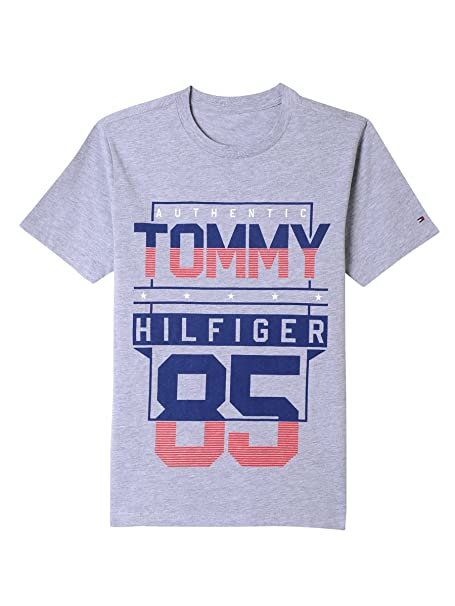 3520f9761 Tommy Hilfiger Toddler Boys' Short Sleeve Graphic T-Shirt, Lapis Blue  Heather,