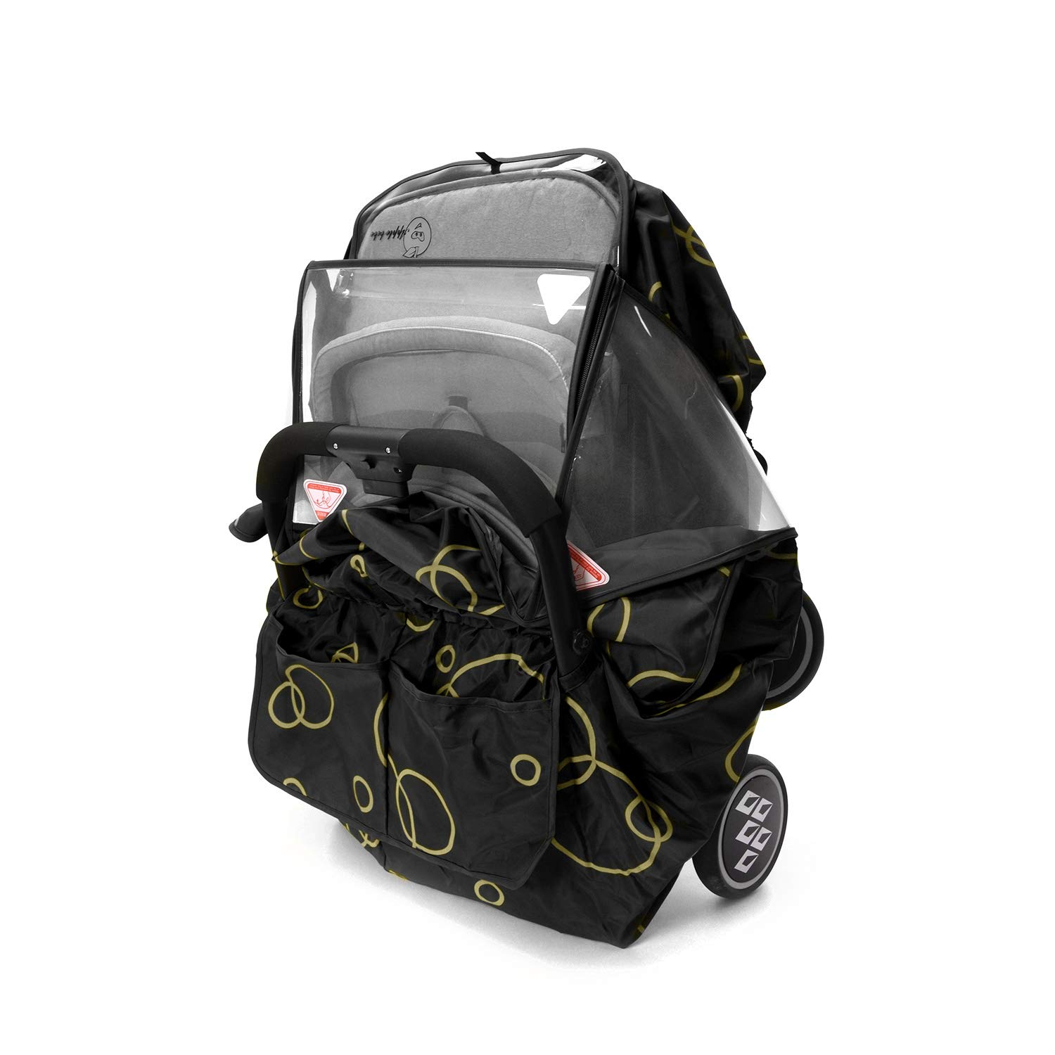Baby Stroller Rain Cover Pushchair Weather Hoods Storage Bag Included Universal