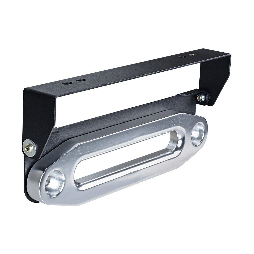 Astra Depot 10' Billet Aluminum Hawse Fairlead 8000-15000 LBs + 254mm Flip-Up Mounted License Plate Holder Kit Flip-Up License Plate Holder