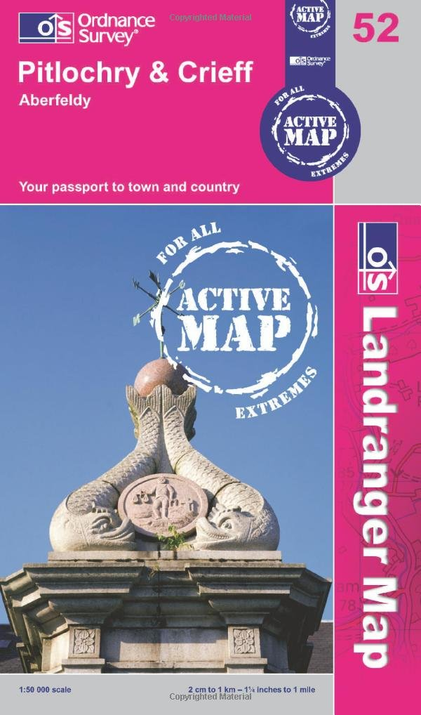 Download Pitlochry & Crieff (OS Landranger Active Map) pdf epub