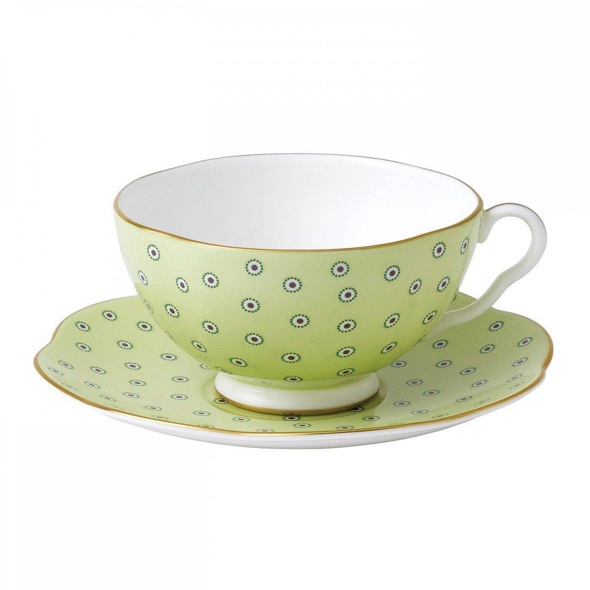wedgwood polka dot pink tea cup /& saucer