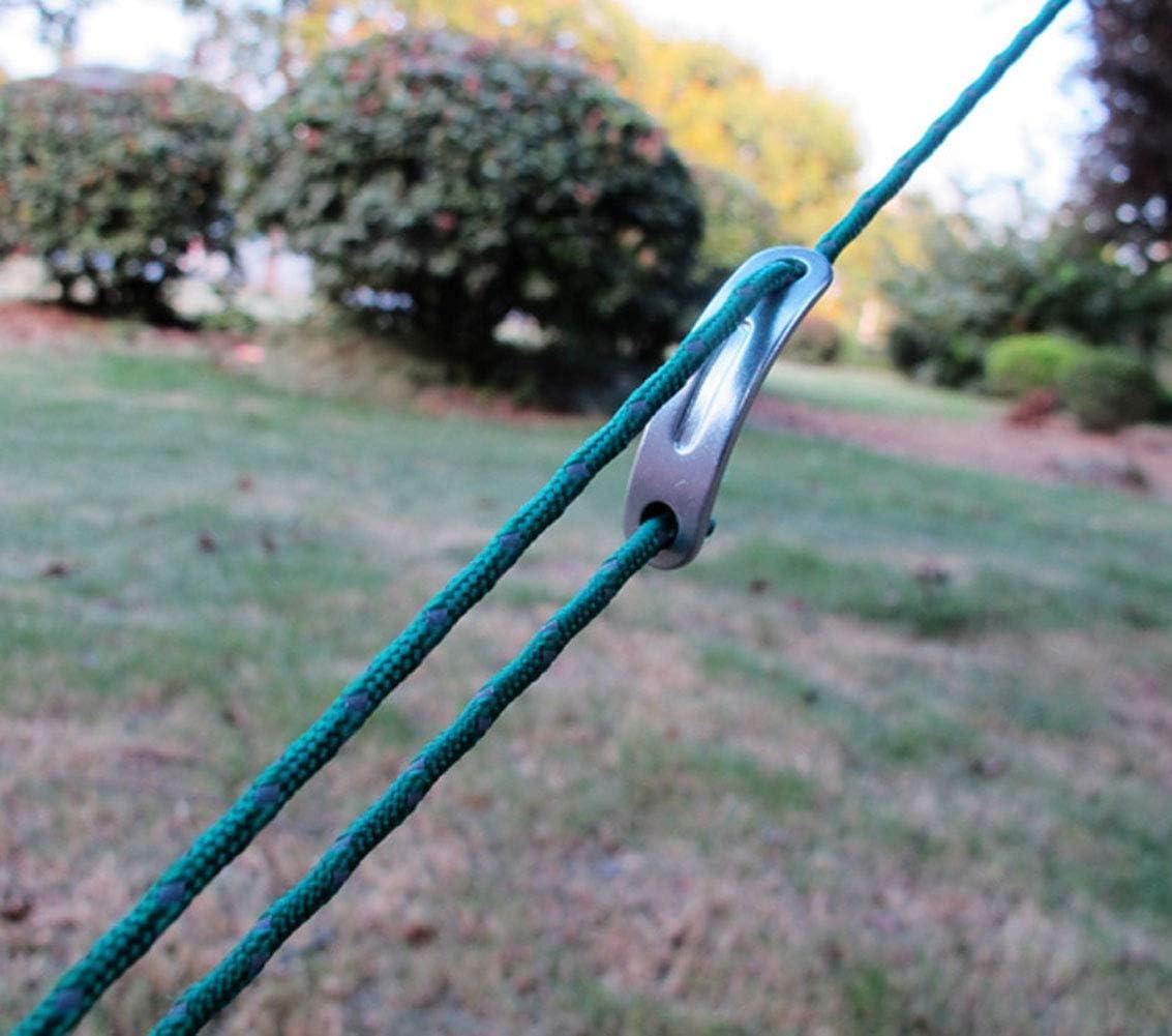 Egurs 20pcs Ultraligero Curvado 2 Hoyos Cuerda Cuerda de Viento Ajustador Hebilla Aleaci/ón de Aluminio Tensor de Cable Guyline Negro