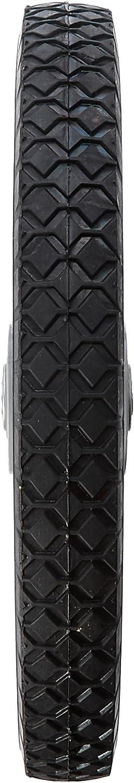 Black MaxPower 335110 14 x 1.75 Spoked Plastic Wheel with Diamond Tread