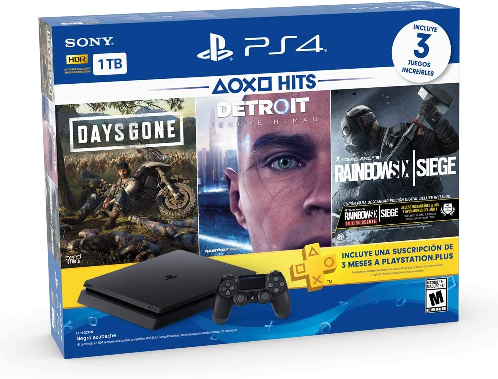 Amazon.com: Sony Playstation 4 1TB Bundle with 3 Games + PS ...
