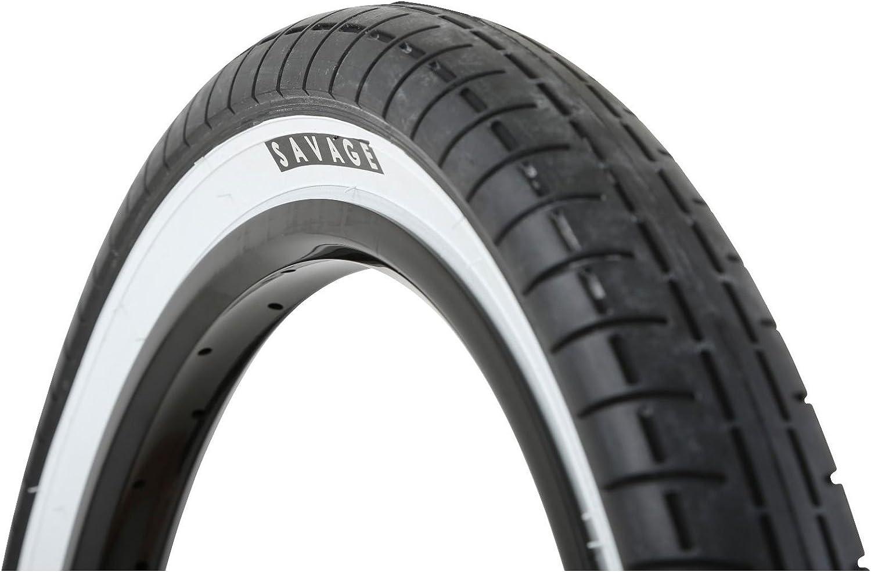 "Savage 20/"" X 2.4/"" Street Park BMX Bike White Wall Freestyle Tyre SVTY004WHT"