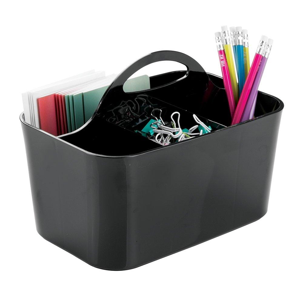 Amazon.com: mDesign Office Supplies Desk Organizer Tote for Scissors ...