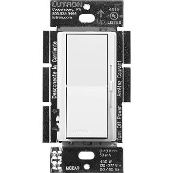 Lutron Diva Dimmer for 0-10V LED/Fluorescent Fixtures, Single-Pole or