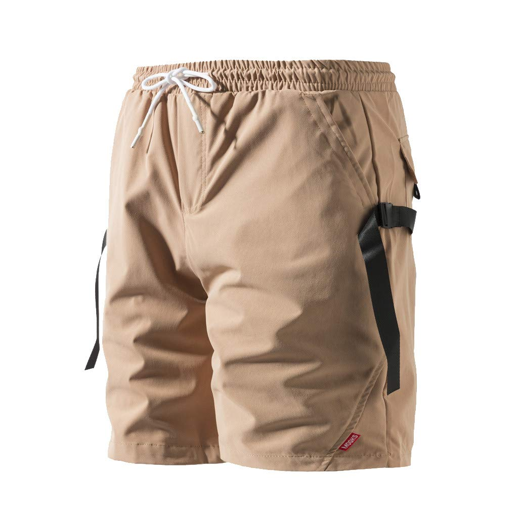 KLGDA Big and Tall Mens Jogger Shorts Casual Fit Drawstring Summer Beach Shorts with Elastic Waist and Pockets