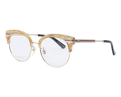 a205cf803c Lunettes de Vue Gucci GG0285OA GOLD femme: Amazon.fr: Vêtements et ...