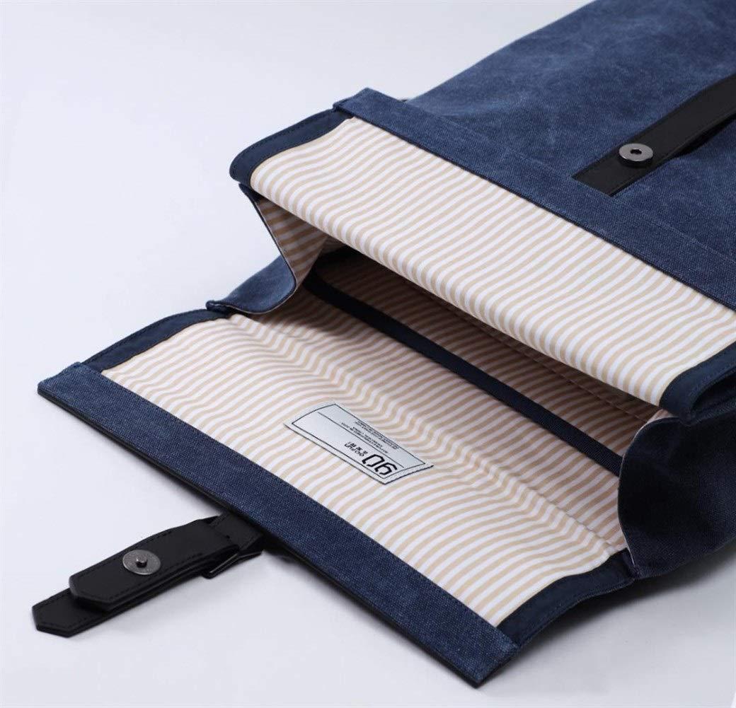 ZYSTMCQZ Oxford vardaglig ryggsäck 15,6 tum bärbar dator väska brittisk stil väska för män kvinnor skola pojkar flickor, lämplig för tonåring och vuxen. (Färg: off-vit) Drak Blå