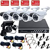 VideoSecu 4 Channel Stand Alone Security Surveillance DVR Digital Video Recorder System Including 4 Day Night Vision Outdoor Infrared CCD Security Cameras, 4 Mini Microphones, 4 Extension Cables, 4 Power Supplies and 2000GB Hard Drive WE1, Best Gadgets