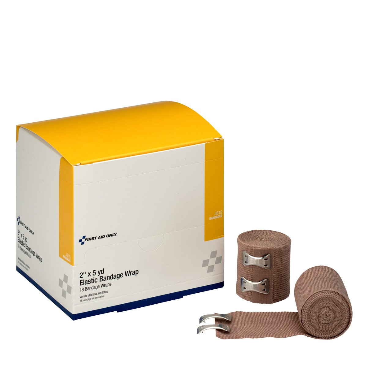 2 In. x 5 Meter. First Aid Nur Elastic - Ace - Bandage - Latex Free mit zwei Verbindungselemente - 18 Per Dispenser Box