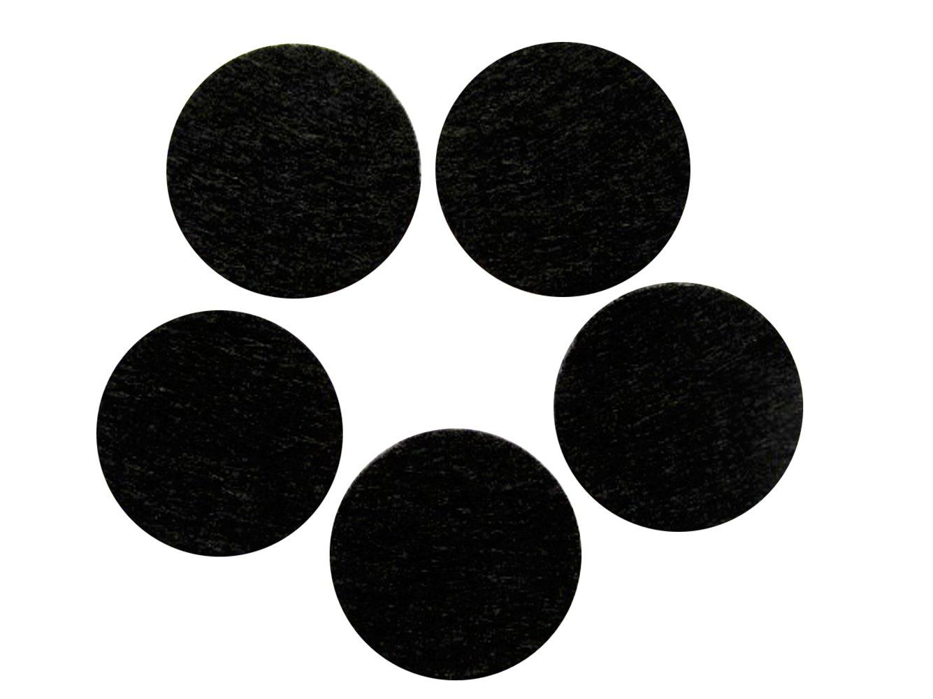 Yycraft - Feutre adhésifs ronds découpés à l'emporte-pièce pour loisirs créatifs et couture. Différentes tailles, Feutre, Noir , 1/2'(12mm)