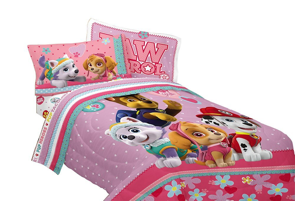 Paw Patrol Girls Best Pup Comforter Twin Full Size Bedding