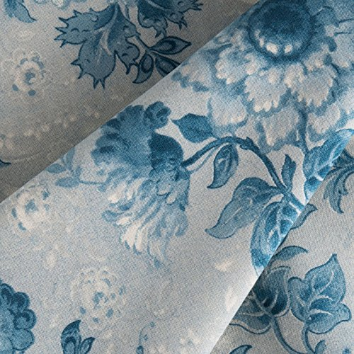 Connecting Threads 104 Inch Wide Backing Cotton Fabric 3 Yard Cut (Elegant Floral - Lt Steel Blue)