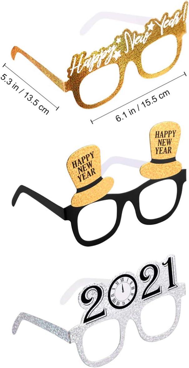 VALICLUD 2021 Accesorios de Cabina de Fiesta de A/ño Nuevo Festivo Colorido Favor de Fiesta Gafas Gafas de Fiesta para Fiesta de A/ño Nuevo Vacaciones