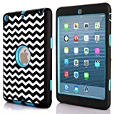 iPad Mini 3 Case,iPad Mini 2 Case,Walle Shop® Hybrid Heavy Duty Shockproof Rugged Bumper Three Layer Impact Resistant Armor Defender Full Body Protective Case Cover for Apple iPad Mini 1/2/3