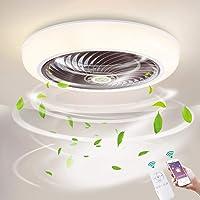 Ø46cm Dimmen Plafondventilator met verlichting LED 36W Dimbaar Plafondverlichting met afstandsbediening en APP…