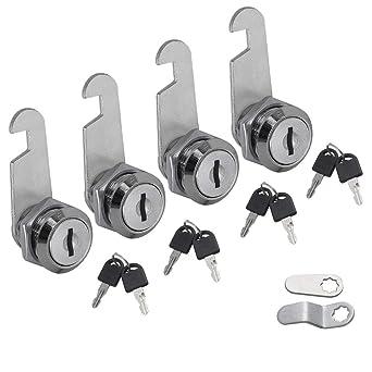 30mm 2 Keyed Alike Cam Locks Door Barrel Drawer Cabinet Mail Box Locker Cupboard