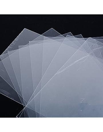 10pcs Plastico Magico Shrink Plastic Perícula A4 Laminas Termocontraíble para Manualidades fabricar Bisutería Llaveros Insignias 29