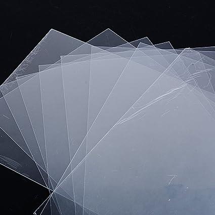 10pcs Plastico Magico Shrink Plastic Perícula A4 Laminas Termocontraíble para Manualidades fabricar Bisutería Llaveros Insignias 29 * 20cm Espesor ...