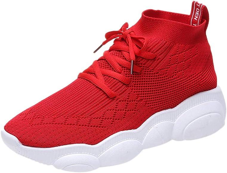 Zapatillas Deportivo para Mujer Primavera Verano 2019 PAOLIAN Zapatos de Calcetines Running Aire Libre Exterior Escolares Señora Casual Calzado Plano con Cordones Talla Grande 35-39 EU: Amazon.es: Zapatos y complementos