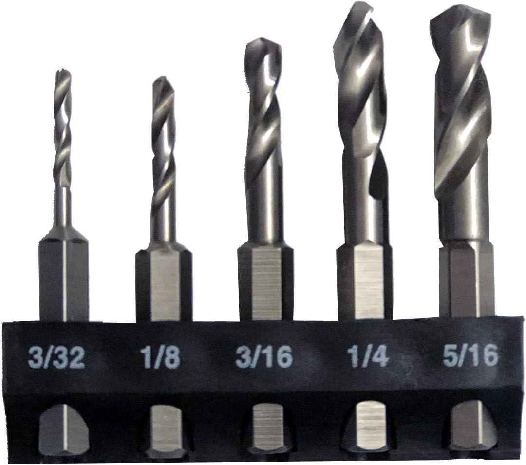 Milescraft-2320-Metal-Stubby-Drill-Bit-Set