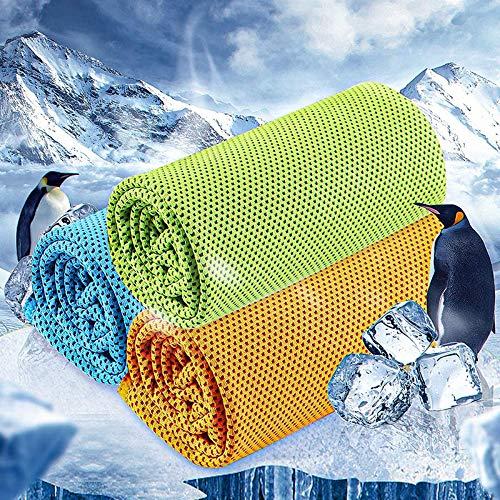 DeniseM117 Lot de 3 serviettes rafraîchissantes pour salle de gym, refroidissement instantané, soulagement froid, serviette froide pour yoga, golf, voyage, séchage rapide